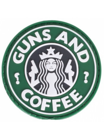 PVC MORALE PATCH GUNS AND COFFEE 6786