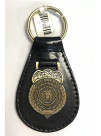 AFOSI ANTIQUE BRASS LEATHER KEY RING