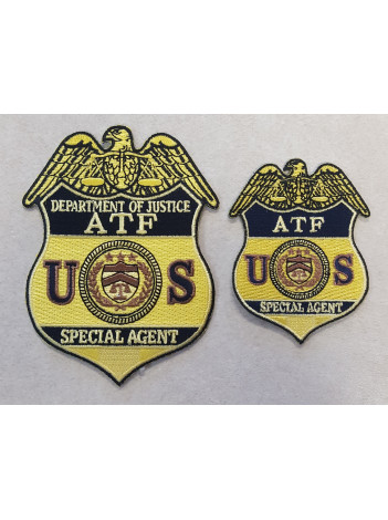 ATF SPECIAL AGENT BADGE PATCH IN GOLDGOLD