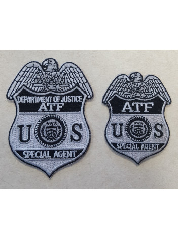 ATF SPECIAL AGENT BADGE PATCH IN GREY/BLACK