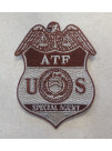 ATF SPECIAL AGENT BADGE PATCH IN TAN/BROWN