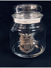 ATF CANDY JAR WITH PEWTER BADGE