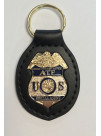 ATF LEATHER BACK KEY RING