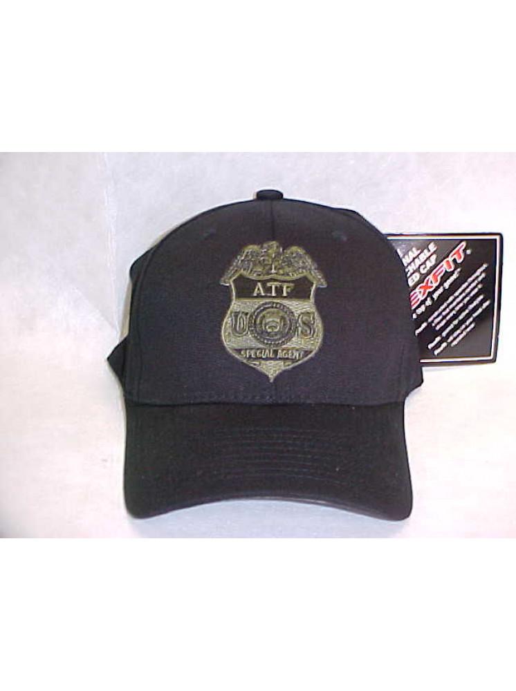 Atf Doj Flex Fit Hat W Od Grn Atf Badge