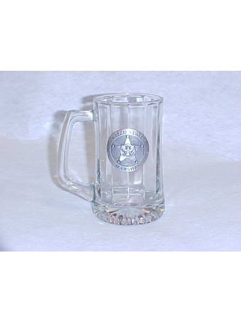 BEER STEIN WITH PEWTER LOGO