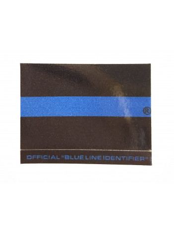 BLUE LINE MOTORCYCLE STICKER