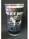 POLICE DOGS PINT GLASS