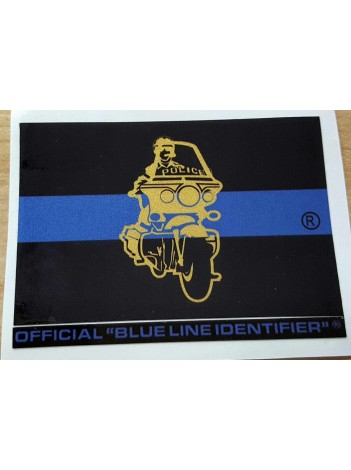 BLUE LINE MOTORCYCLE STICKER , OVERSTOCK!
