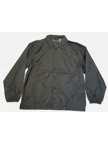 UNLINED BLACK WINDBREAKER JACKET.  CLOSEOUT!
