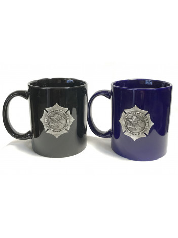 BOP COFFEE MUG WITH PEWTER BADGE