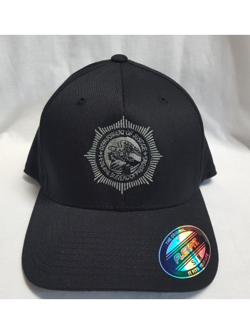 BOP FLEX FIT HAT WITH BOP BADGE IN SILVER