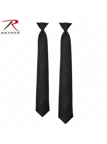 CLIP ON TIE, BLACK , POLICE ISSUE