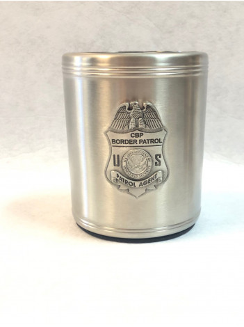 BORDER PATROL PEWTER CAN COOZIE