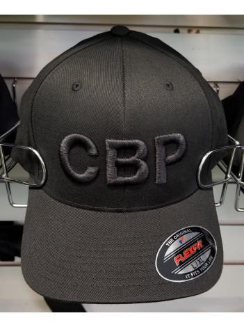 """CBP FLEX FIT HAT CBP """"BLACK OUT"""" LETTERS"""