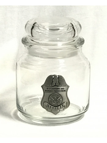 CANDY JAR WITH PEWTER BADGE 4475