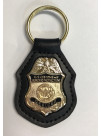 CBP KEY RING WITH RECESSED GOLD BADGE