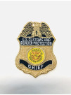 CBP METALLIC GOLD CHIEF BADGE PATCH, 493631