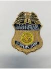 CBP METALLIC GOLD SUPERVISOR BADGE PATCH
