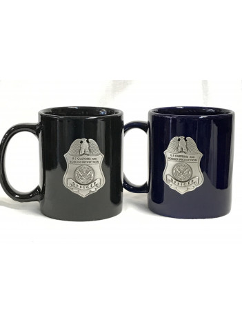CBP COFFEE MUG WITH PEWTER BADGE