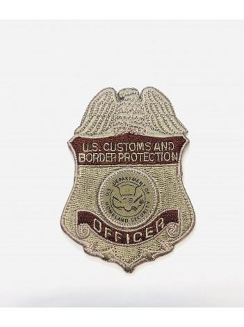 CBP OFFICER BADGE PATCH DESERT TAN 3558