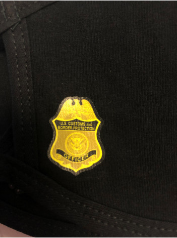 COTTON FACE MASK WITH CBP OFFICER BADGE