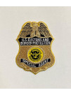 CBP METALLIC GOLD SPECIAL AGENT BADGE PATCH