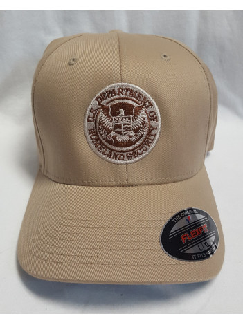 DHS SEAL FLEX FIT HAT WITH DESERT TAN SEAL