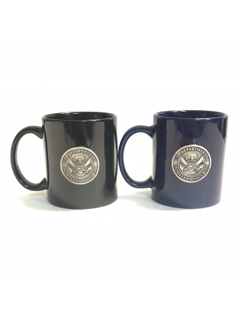 DHS COFFEE MUG WITH PEWTER SEAL