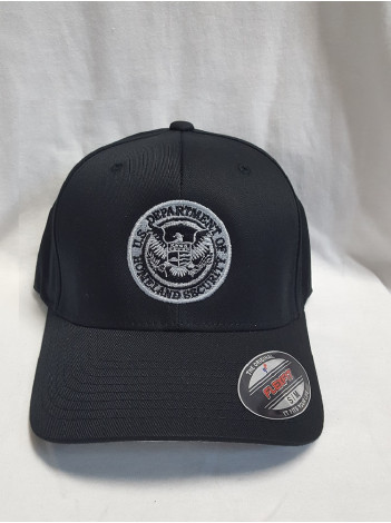 DHS SEAL FLEX FIT HAT WITH GREY SUBDUED SEAL