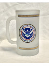 DHS FPS POLICE FROSTED BEER MUG