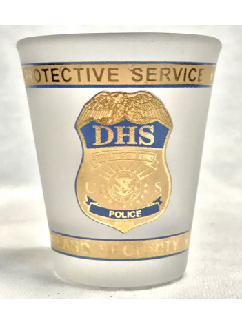 DHS FPS POLICE FROSTED SHOT GLASS