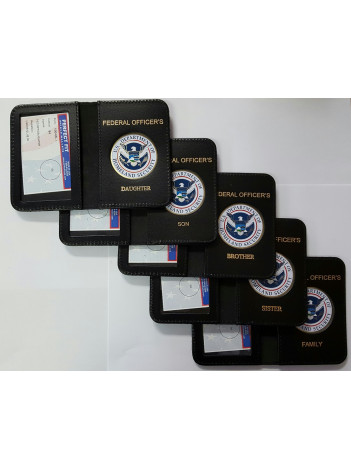 DHS MINI CREDENTIAL CASE FOR FEDERAL OFFICER'S FAMILY