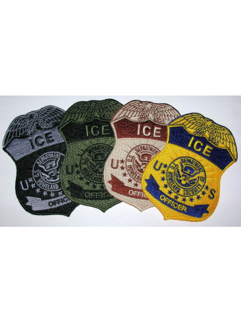 ICE OFFICER BADGE PATCH , 3 1/2 INCH