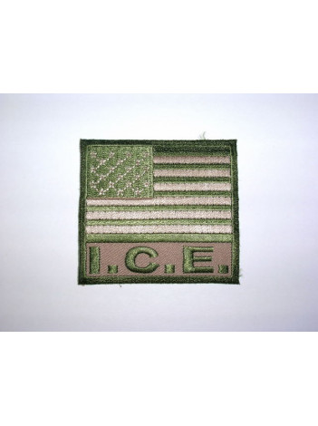 ICE PATCH, US FLAG PATCH TAN/OD GREEN