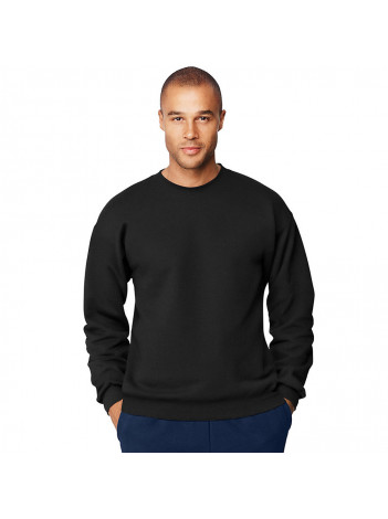 SWEATSHIRT WITH EMBROIDERED BADGE, CREWNECK