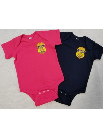 INFANT CREEPER WITH JR FEDERAL AGENT BADGE
