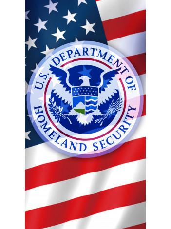 DHS SEAL & FLAG NECK GAITER