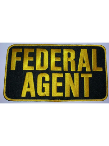 "FEDERAL AGENT , 9"" X 5"" PATCH"