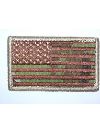 FLAG PATCH WITH HOOK FASTENER