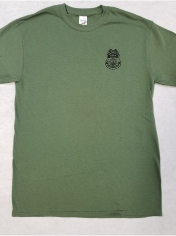 FOREST SVC ENFORCMENT T-SHIRT, MILITARY GRN, 8079