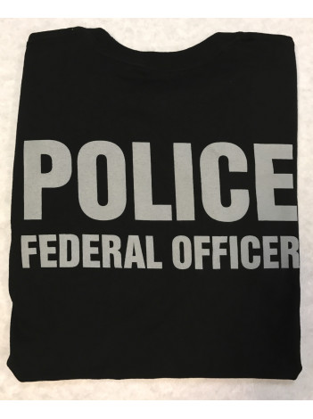 USFS, ENFORCEMENT T-SHIRT, POLICE FEDERAL OFFICER GREY INK , 126443