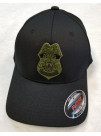 USFS, FLEX FIT HAT IN BLACK WITH OD GREEN BADGE 148378