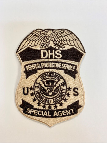 FPS TAN/BROWN SPECIAL AGENT BADGE PATCH