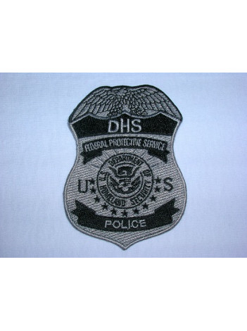 DHS FPS GREY/ BLACK POLICE PATCH