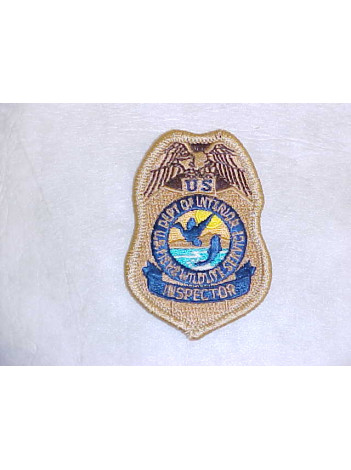 FWS, INSPECTOR PATCH, TAN, 148390
