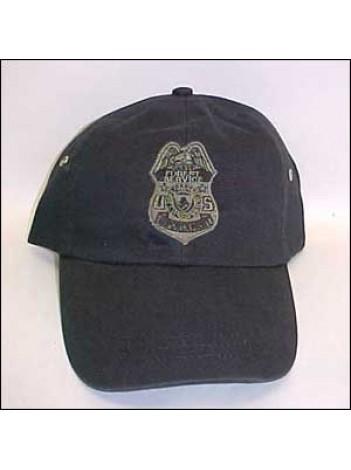 USFS, FLEX FIT HAT W/ ENFORCEMENT BADGE IN OD 148378