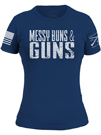 MESSY BUNS & GUNS GRUNT SHIRT LADIES