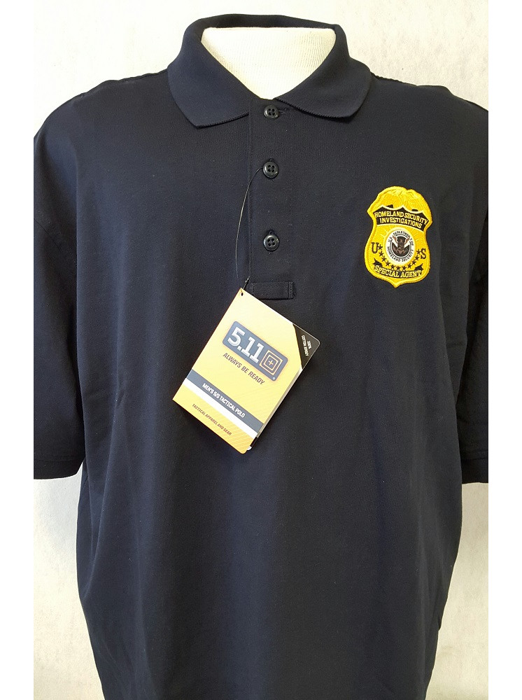 Hsi Special Agent Polo Shirt Gold Badge