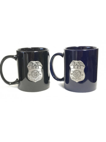 HSI COFFEE MUG WITH PEWTER BADGE