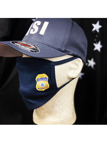 COTTON FACE MASK WITH HSI SPECIAL AGENT BADGE
